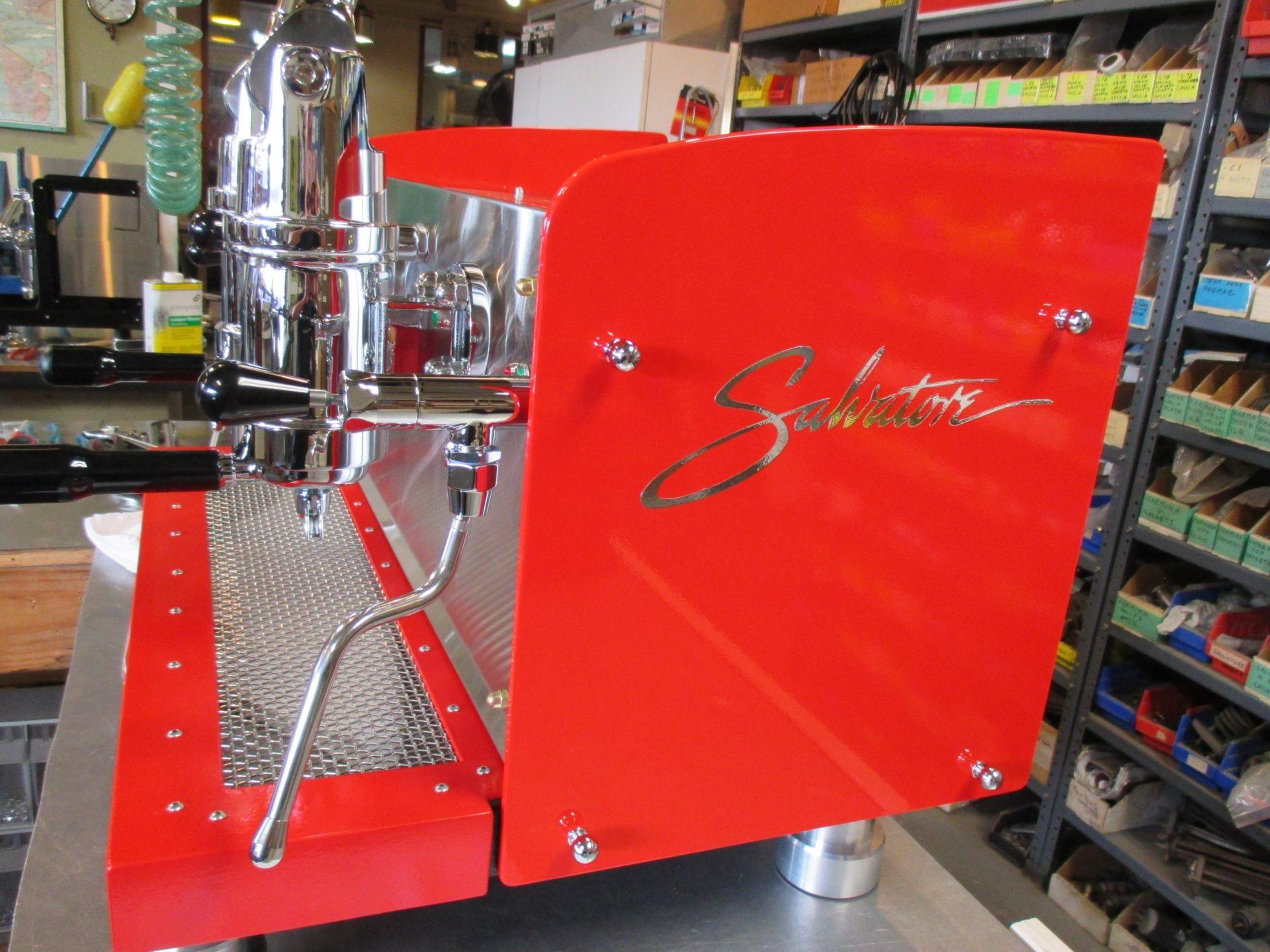 2 group Spring lever Ferrari Red